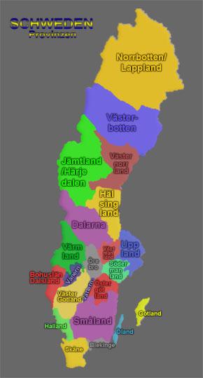 Moosemande Gallery Sweden Regions - Sweden map regions